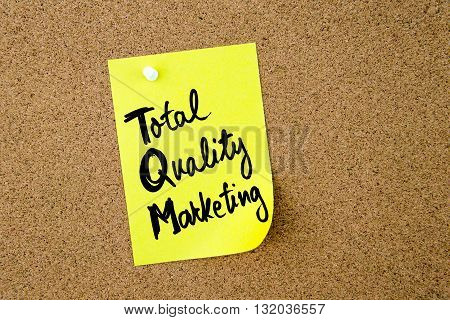 Business Acronym Tqm Total Quality Marketing