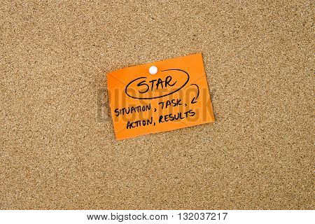 Business Acronym Star Written On Orange Paper Note