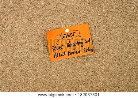 Business Acronym Start Written On Orange Paper Note
