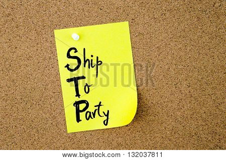 Business Acronym Stp Ship To Party