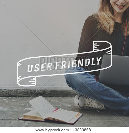 User Digital Internet Technology Network Concept