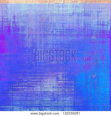Vintage ancient background or texture with grunge decor elements and different color patterns: green; blue; red (orange); purple (violet); cyan; pink