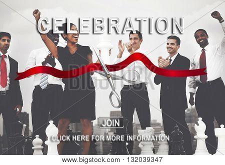 Startup Success Business Celebration Event Concept