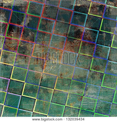 Old background with grunge decorative elements. Retro composition for your design. With different color patterns: brown; green; blue; red (orange); gray; cyan