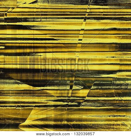 Retro vintage style elements on aged grunge texture. With different color patterns: yellow (beige); brown; gray; black