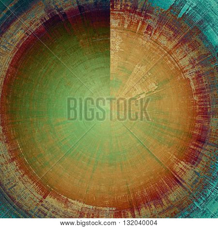 Spherical abstract colorful background or backdrop with grunge texture and different color patterns: yellow (beige); brown; green; blue; red (orange); purple (violet)