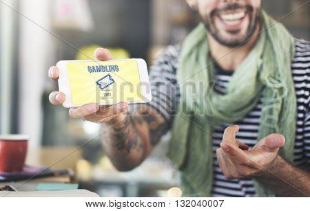 Enter to Win Gambling Jackpot Luck Concept
