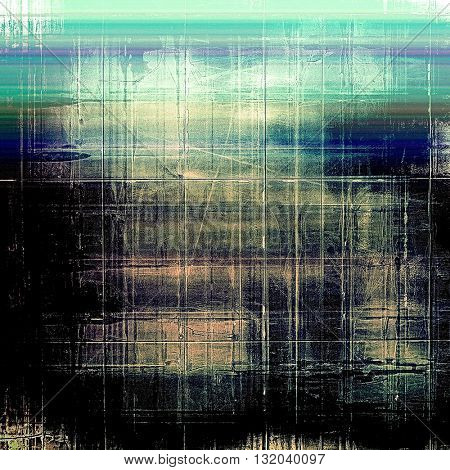 Vintage ancient background or texture with grunge decor elements and different color patterns: yellow (beige); green; blue; cyan; black; pink