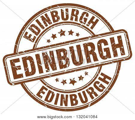 Edinburgh brown grunge round vintage rubber stamp.Edinburgh stamp.Edinburgh round stamp.Edinburgh grunge stamp.Edinburgh.Edinburgh vintage stamp.