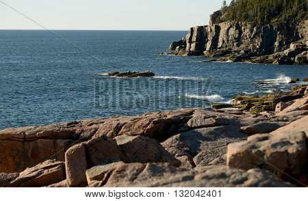 Landscape summer image of Acadia National Park in Maine