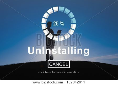 Uninstalling Remove Delete Cancellation Uninstall Concept