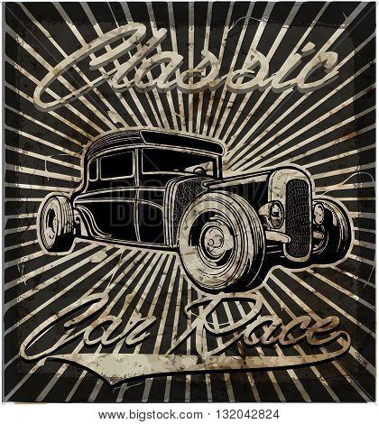 Vintage old car retro style fashion style