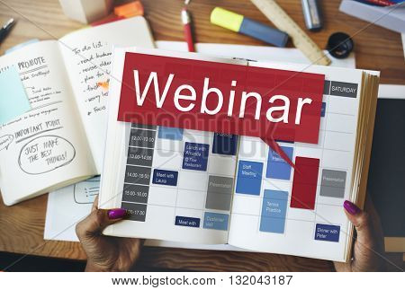 Webinar Website Online Internet Networking Concept