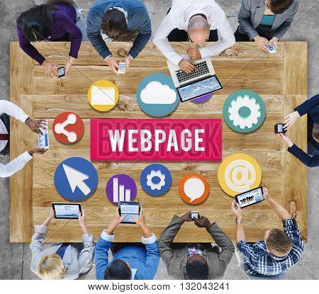 Webpage Internet Social Media Networking Web Concept