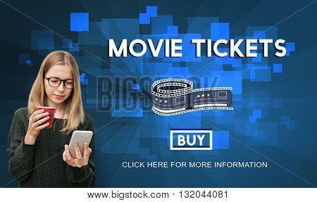 Movie Tickets Nights Audience Cinema Theater Concept