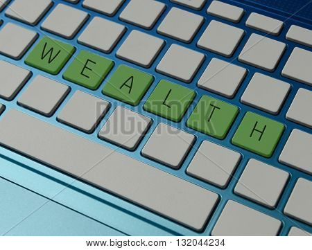 online wealth management and investment concept on computer