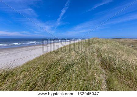 Quiet Beach On Wadden Island