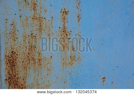 Rust metal background. Rust background.  Rusted blue metal texture
