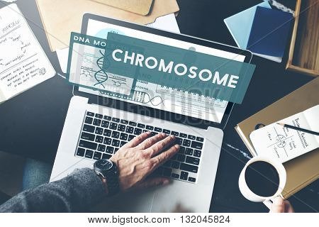Chromosome Science Research  Concept