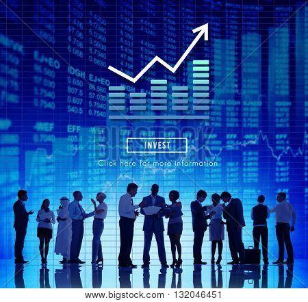 Graph Chart Invest Report Icon Concept