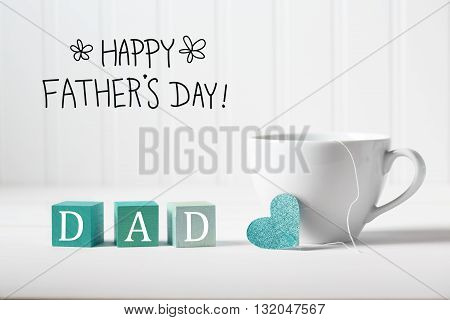 Father's Day Message With Coffee Cup