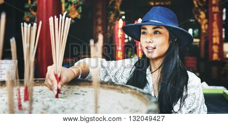 Asian Ethnicity Belief Faith Leisure Relaxation Concept