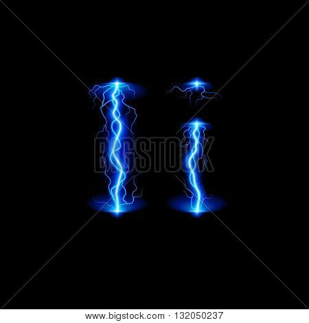 Uppercase and lowercase letters I in lighting style
