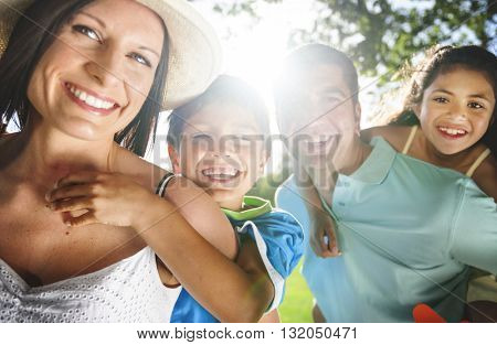 Family Parenting Love Togetherness Happiness Summer Concept