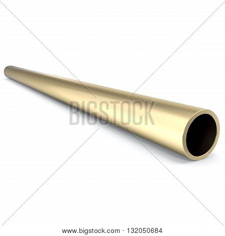 Metal pipe isolated on white background, 3d illustration