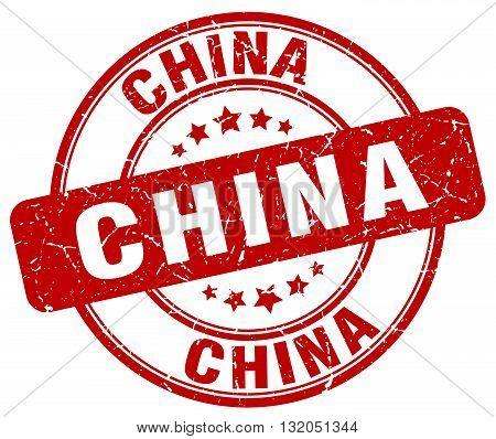 China red grunge round vintage rubber stamp.China stamp.China round stamp.China grunge stamp.China.China vintage stamp.