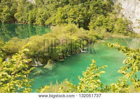 Waterfalls in Plitvice lake, Croatia