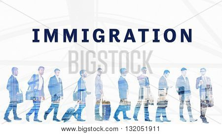 Business peoples. Immigration. International government concept