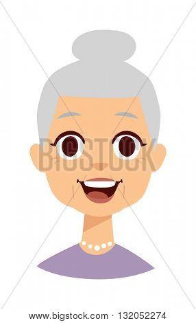 Cute granny vector illustration.