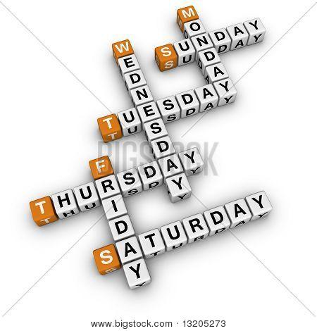 Weekdays Crossword