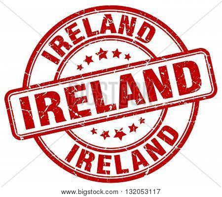 Ireland red grunge round vintage rubber stamp.Ireland stamp.Ireland round stamp.Ireland grunge stamp.Ireland.Ireland vintage stamp.