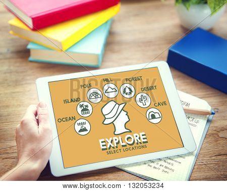 Explore Adventure Travel Journey Experience Concept