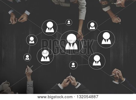 Connection Business People Networking Connect Concept