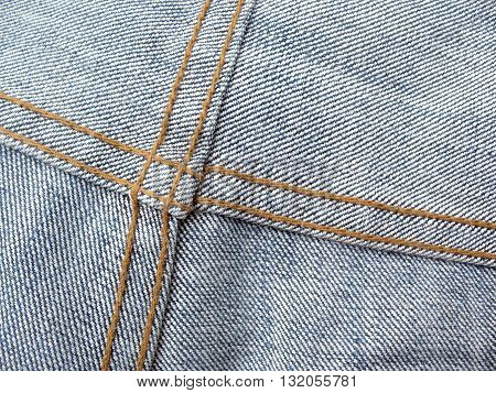 close up jean texture with seamjean seam inside