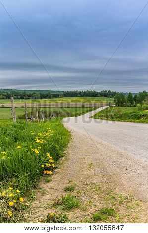 Country Road landscape scenic St-Alban Quebec Canada