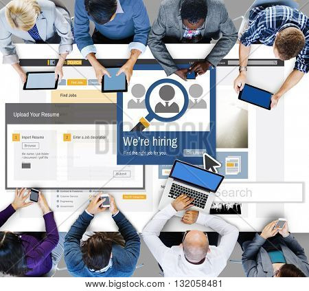 We Are Hiring Career Headhunting Job Occupation Concept