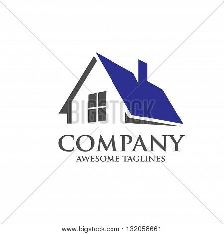 house and real estate roofing design concept
