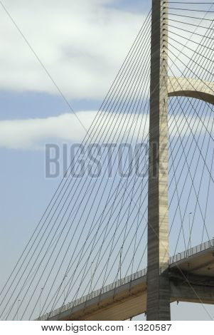 Suspension Bridge Tower And Cables