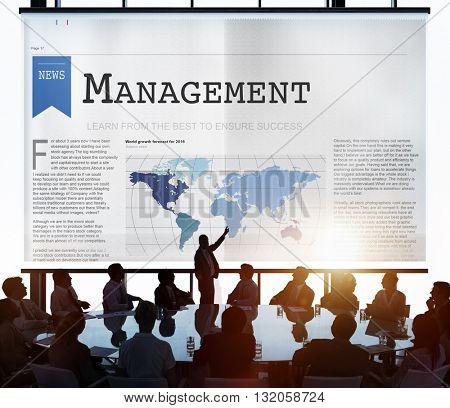 Management Strategy Organization Coaching Concept