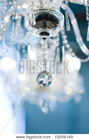Lámpara de cristal Vintage