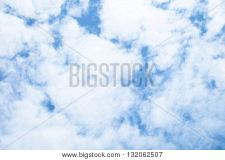 Beautiful cloud and blue sky in thailand