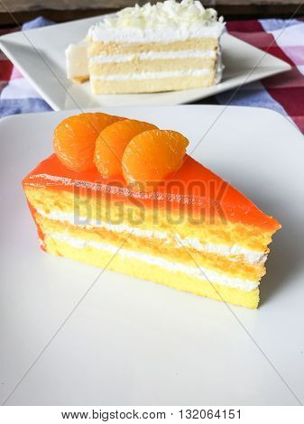 Orange Cake And White Chocolate Cake