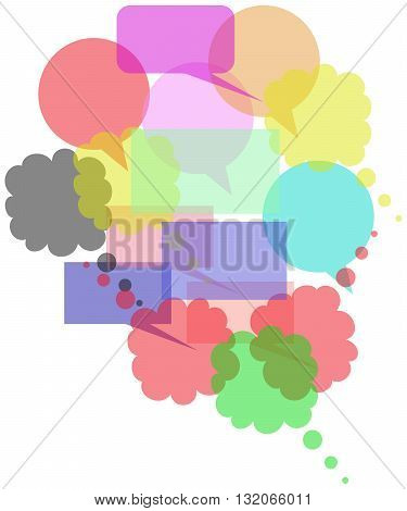 Colored Speech Bubbles Group speech bubble symbol