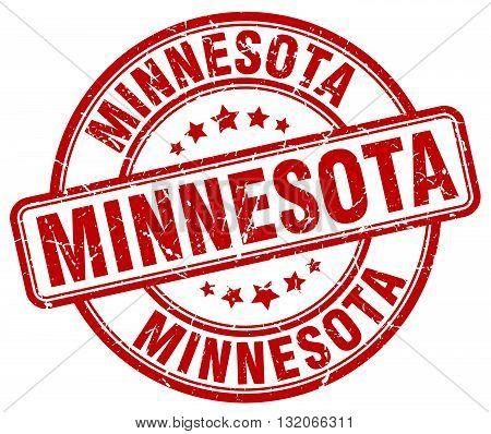 Minnesota red grunge round vintage rubber stamp.Minnesota stamp.Minnesota round stamp.Minnesota grunge stamp.Minnesota.Minnesota vintage stamp.
