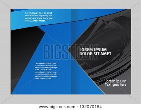 brochure template. Colorful Bi-Fold Brochure Design. Corporate Leaflet, Cover Template