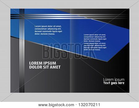 Brochure design. Colorful Bi-Fold Brochure Design. Corporate Leaflet, Cover Template